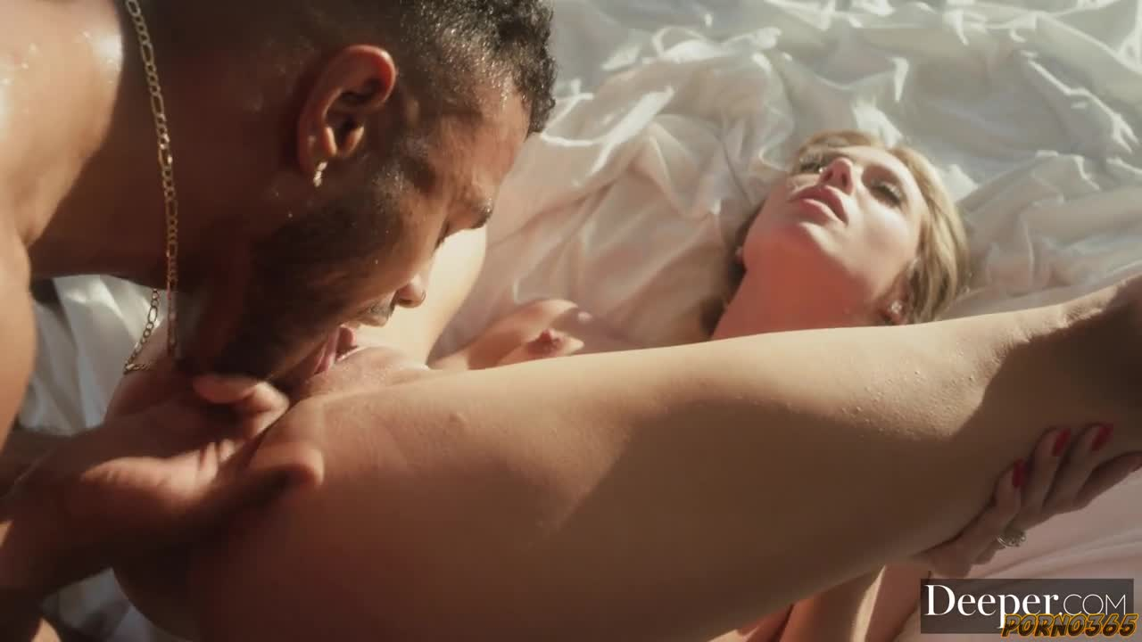 A beautiful blonde fell for a young negro at a party and did not calm down until she hooked up with him