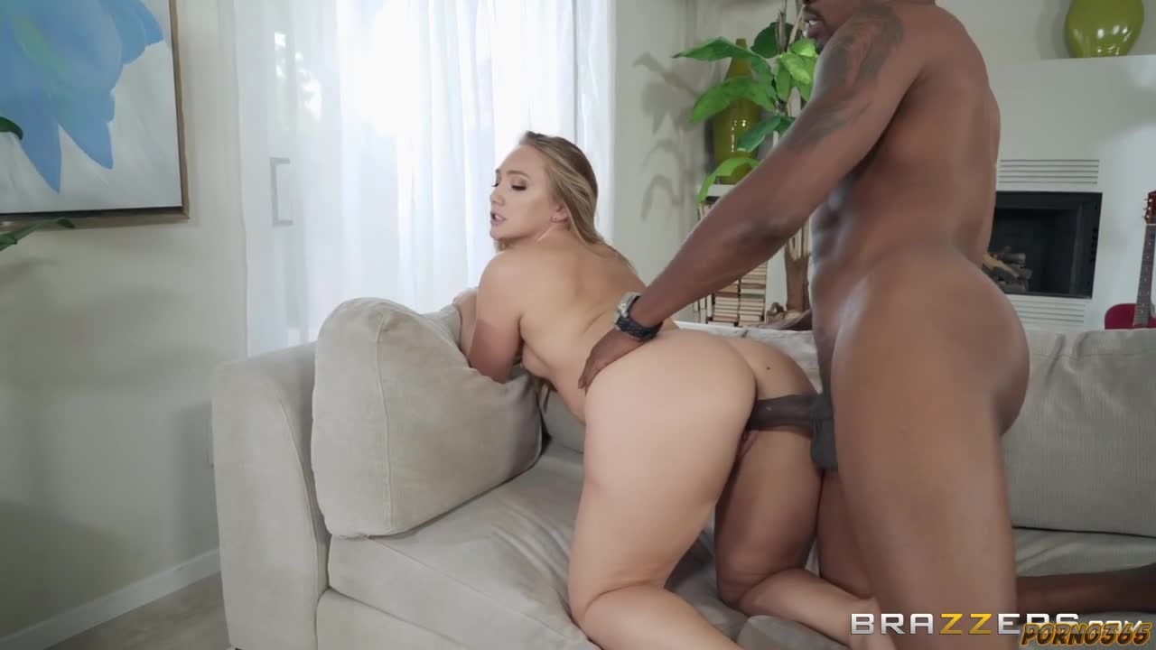 Blonde loves having a big black cock in her ass